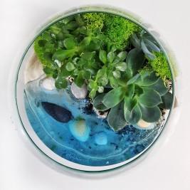 С имитацией воды